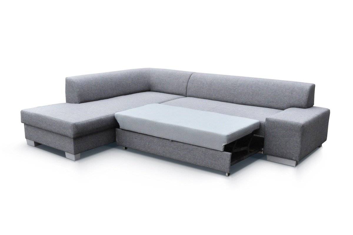 Corner sofa bed 39 porto 39 grey black 135x210 cm 278 cm for Black corner sofa