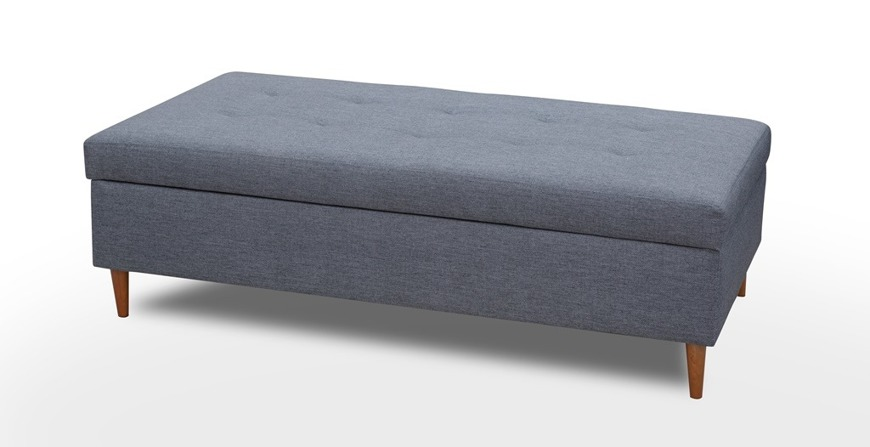 Corner Sofa Bed With Pouffe 'AREO'
