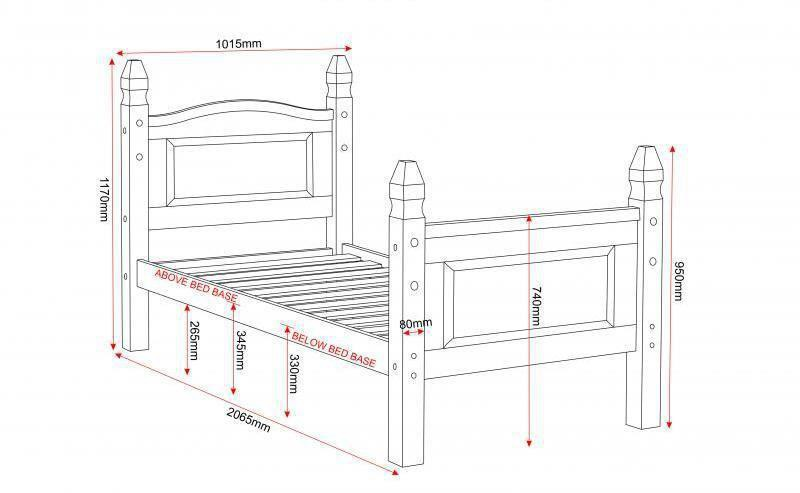Bed 'CORONA 3-high foot end'